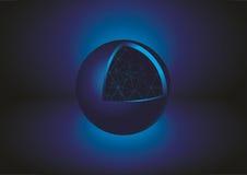 Αφηρημένη μπλε σφαίρα τρισδιάστατη επίσης corel σύρετε το διάνυσμα απεικόνισης Στοκ εικόνα με δικαίωμα ελεύθερης χρήσης