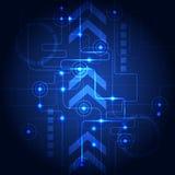 αφηρημένη μπλε τεχνολογί&alph επίσης corel σύρετε το διάνυσμα απεικόνισης Στοκ Εικόνες