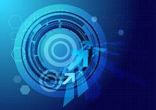 αφηρημένη μπλε τεχνολογί&alph Στοκ εικόνα με δικαίωμα ελεύθερης χρήσης