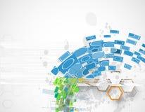 Αφηρημένη μπλε hexagon τεχνολογία Διαδικτύου υπολογιστών διανυσματική backgr Στοκ φωτογραφία με δικαίωμα ελεύθερης χρήσης