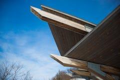 Αφηρημένη ξύλινη δομή το χειμώνα στοκ φωτογραφία με δικαίωμα ελεύθερης χρήσης