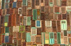 Αφηρημένη ξύλινη σύσταση παραθύρων στοκ φωτογραφίες