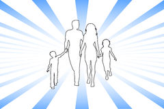 αφηρημένη οικογένεια ελεύθερη απεικόνιση δικαιώματος