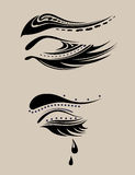 αφηρημένη ομορφιά eyelashes Στοκ φωτογραφία με δικαίωμα ελεύθερης χρήσης