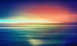 Αφηρημένη οριζόντια πολύχρωμη ελαφριά γραμμή θαμπάδων κινήσεων στοκ φωτογραφίες