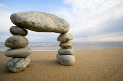 αφηρημένη πέτρα θάλασσας παραλιών αψίδων Στοκ εικόνα με δικαίωμα ελεύθερης χρήσης