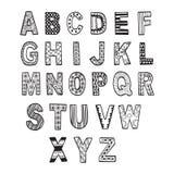 Αφηρημένη πηγή doodle συλλογής επίσης corel σύρετε το διάνυσμα απεικόνισης Στοκ Εικόνα