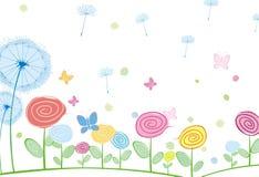 αφηρημένη πικραλίδα καρτών flora Στοκ φωτογραφία με δικαίωμα ελεύθερης χρήσης