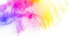 Αφηρημένη πολύχρωμη έκρηξη σκόνης στο άσπρο υπόβαθρο Στοκ φωτογραφίες με δικαίωμα ελεύθερης χρήσης