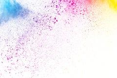 Αφηρημένη πολύχρωμη έκρηξη σκόνης Στοκ Φωτογραφία