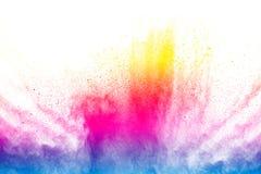 Αφηρημένη πολύχρωμη έκρηξη σκόνης Στοκ Εικόνες