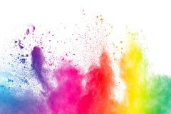 Αφηρημένη πολύχρωμη έκρηξη σκόνης Στοκ φωτογραφία με δικαίωμα ελεύθερης χρήσης