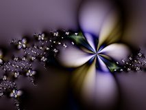 αφηρημένη πορφύρα λουλουδιών Στοκ Εικόνα