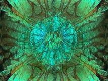 Αφηρημένη πράσινη ακτινοβολώντας σύσταση, υπόβαθρο Στοκ Φωτογραφία