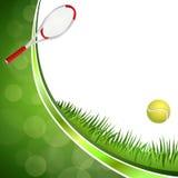Αφηρημένη πράσινη απεικόνιση πλαισίων κύκλων κορδελλών αθλητικών κίτρινη σφαιρών αντισφαίρισης υποβάθρου Στοκ Εικόνες