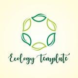Αφηρημένη πράσινη οικολογία φύλλων και ιατρικό πρότυπο λογότυπων Στοκ φωτογραφία με δικαίωμα ελεύθερης χρήσης