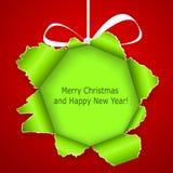 Αφηρημένη πράσινη σφαίρα Χριστουγέννων απεικόνιση αποθεμάτων
