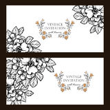 Αφηρημένη πρόσκληση κομψότητας με το floral υπόβαθρο Στοκ Φωτογραφία