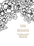 Αφηρημένη πρόσκληση κομψότητας με το floral υπόβαθρο Στοκ εικόνες με δικαίωμα ελεύθερης χρήσης