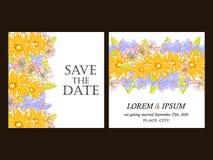 Αφηρημένη πρόσκληση κομψότητας με το floral υπόβαθρο Στοκ Φωτογραφίες