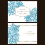 Αφηρημένη πρόσκληση κομψότητας με το floral υπόβαθρο Στοκ Εικόνα