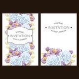 Αφηρημένη πρόσκληση κομψότητας με το floral υπόβαθρο Στοκ Εικόνες