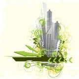 αφηρημένη πόλη ανασκόπησης απεικόνιση αποθεμάτων