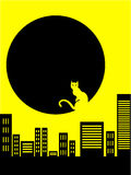 αφηρημένη πόλη γατών ανασκόπη&s Στοκ Εικόνα