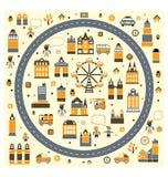 αφηρημένη πόλη Στοκ Εικόνες