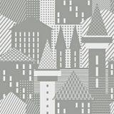 Αφηρημένη πόλη Αρχιτεκτονική κατασκευασμένη ανασκόπηση Στοκ Φωτογραφία