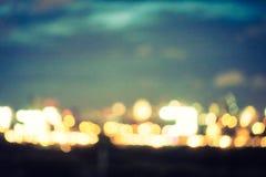 Αφηρημένη πόλη θαμπάδων τη νύχτα Στοκ φωτογραφία με δικαίωμα ελεύθερης χρήσης
