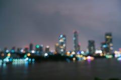 Αφηρημένη πόλη της Μπανγκόκ θαμπάδων στην Ταϊλάνδη Στοκ φωτογραφία με δικαίωμα ελεύθερης χρήσης