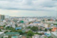 Αφηρημένη πόλη της Μπανγκόκ θαμπάδων Στοκ Φωτογραφία