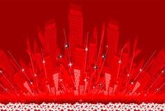 αφηρημένη πόλη διανυσματική απεικόνιση