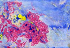 Αφηρημένη ρόδινη μπλε μαρμάρινη σύσταση, τέχνη acrylics στοκ εικόνες
