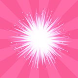 Αφηρημένη ρόδινη έκρηξη υποβάθρου ενός αστεριού με τις ακτίνες Στοκ εικόνες με δικαίωμα ελεύθερης χρήσης