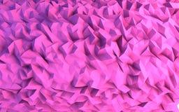 Αφηρημένη ρόδινη απεικόνιση υποβάθρου τριγώνων γεωμετρική Στοκ φωτογραφία με δικαίωμα ελεύθερης χρήσης