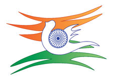 αφηρημένη σημαία Ινδός Στοκ Εικόνες