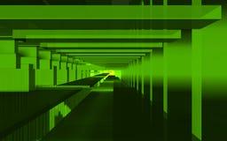 Αφηρημένη σκηνή, ζωηρόχρωμη φουτουριστική δομή Στοκ Φωτογραφία