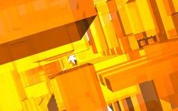 Αφηρημένη σκηνή, ζωηρόχρωμη φουτουριστική δομή Στοκ φωτογραφία με δικαίωμα ελεύθερης χρήσης