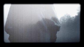 Αφηρημένη σκηνή ταινίας τρόμου απόθεμα βίντεο