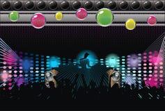 αφηρημένη σκιαγραφία μουσικής του DJ ανασκόπησης τέχνης απεικόνιση αποθεμάτων