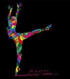 Αφηρημένη σκιαγραφία του χορευτή Στοκ Εικόνες
