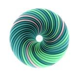 Αφηρημένη σπειροειδής πράσινη μορφή διανυσματική απεικόνιση