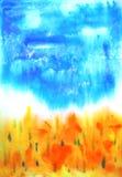 Αφηρημένη συρμένη χέρι ανασκόπηση χρωμάτων Στοκ Εικόνα