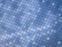 Αφηρημένη σύγχρονη ανασκόπηση λεπτομέρειας οικοδόμησης με την αντανάκλαση χρώματος ουρανού Στοκ Εικόνα