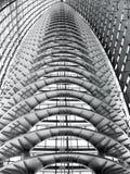 Αφηρημένη σύγχρονη κατασκευή στεγών Στοκ Φωτογραφίες