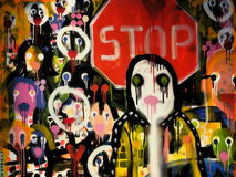 Αφηρημένη σύγχρονη τέχνη στη Μπρατισλάβα 2016 Στοκ Φωτογραφία