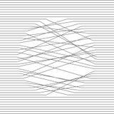 Αφηρημένη σύνθεση Γραπτή απεικόνιση Οι παράλληλες γραμμές κόβουν σε έναν κύκλο Διανυσματική σύσταση σχεδίου διανυσματική απεικόνιση