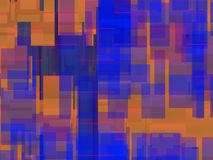 Αφηρημένη σύνθεση με κοκκινωπός και μπλε Στοκ Εικόνα